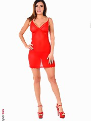 Kitana Lure The red color of any woman's lingerie leads men to erotic fantasies and a virtual girl can always satisfy your fantasies. Her dance i